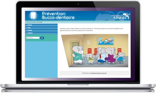 site de l'université de Rennes sur la prévention bucco dentaire